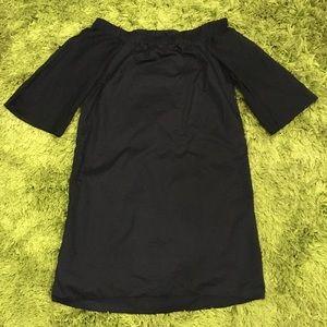 Sussan Size 10 Black Cotton / Silk Mini Dress
